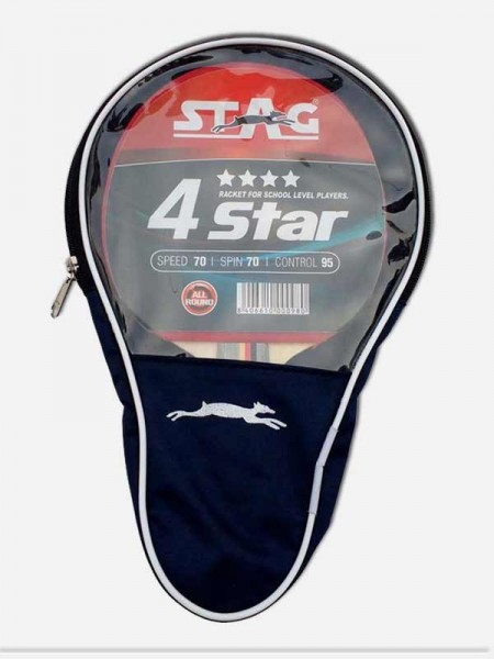 Stag 4 Star Table Tennis Bat, (pack of 6 ball)