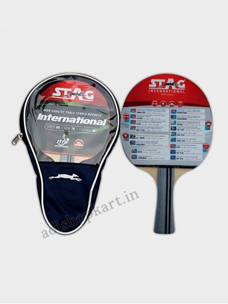 Stag International Table Tennis Racket  ITTF Approved