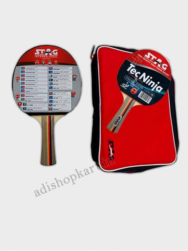 Stag Table Tennis Racket Tec Ninja free Stiga Club 40+ T.T Ball
