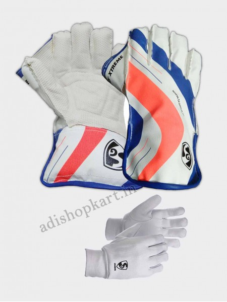Combo Pack SG RSD Xtreme Wicket Keeping Gloves & League Inner Gloves