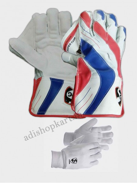 Combo Pack SG Super Club Wicket Keeping Gloves & League Inner Gloves