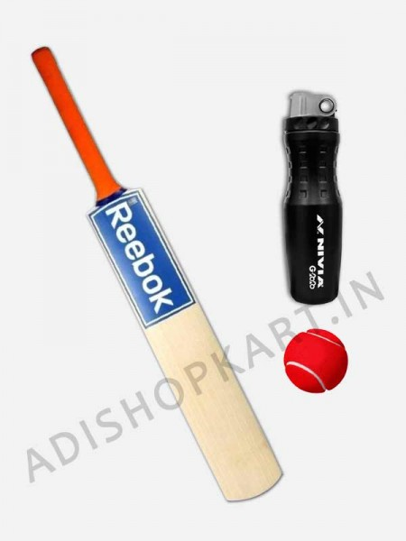 Reebok  Poplar Willow Cricket Tennis Bat, Short Handle