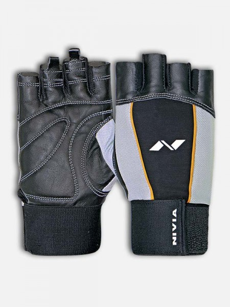 Nivia Tough GYM Gloves, Black