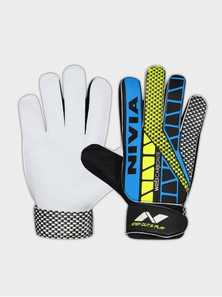 Nivia Carbonite Web Goalkeeper Gloves, large